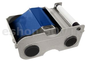 Fargo 044203 Blue Cartridge w/Cleaning Roller - 1000 images