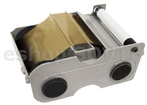 Fargo 044207 Gold Metallic Cartridge with Cleaning Roller - 500 images