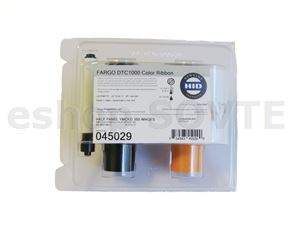 Fargo 045029 ECO YMCKO Half Panel Cartridge with Cleaning Roller - 350img