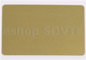 Card CR-80 metallic gold, HiCo mag. strip, 0,75mm
