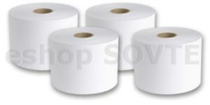 Labelstock DTM Paper Satin Silver permanent, 216mm x 300 Meters / Glassin 65 liner