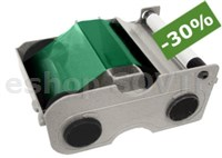 Fargo 044204 Green Cartridge w/Cleaning Roller -1000 images