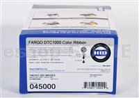 Fargo 045000 EZ YMCKO Cartridge w/Cleaning Roller - 250im.